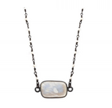 Pearl Bezel on Pearl Necklace, Necklaces - Luna Lili Jewelry