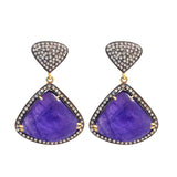 Tanzanite and Diamonds  Earrings, Earrings - Luna Lili Jewelry