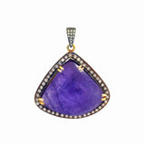 Tanzanite Diamond Pendant, Necklaces - Luna Lili Jewelry
