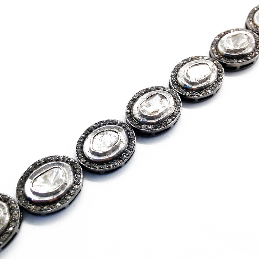 Polki Diamond Link Bracelet, Earrings - Luna Lili Jewelry