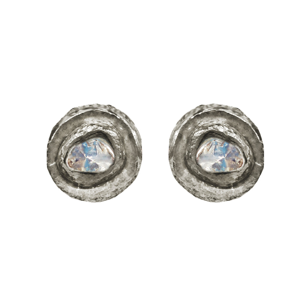 Small Polki Diamond Studs, Earrings - Luna Lili Jewelry