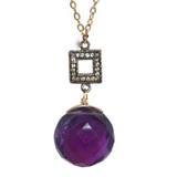 Royal Amethyst Pendant Necklace, Necklaces - Luna Lili Jewelry