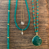 Green Onyx Mila Necklace, Necklace - Luna Lili Jewelry