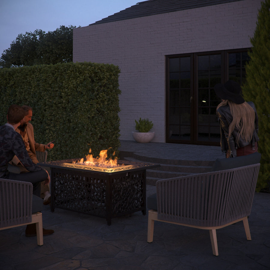 Sedona Rectangular Cast-Aluminum LPG Fire Pit (Costco.com Exclusive)