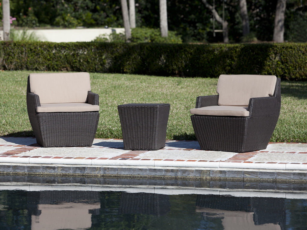 Bel Cubo Square Wicker Bistro Set