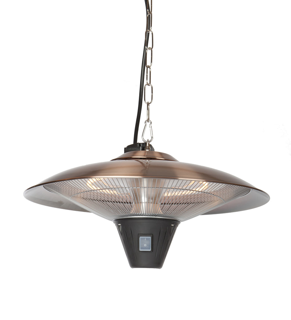 Gunnison Brushed Copper Colored Hanging Halogen Patio