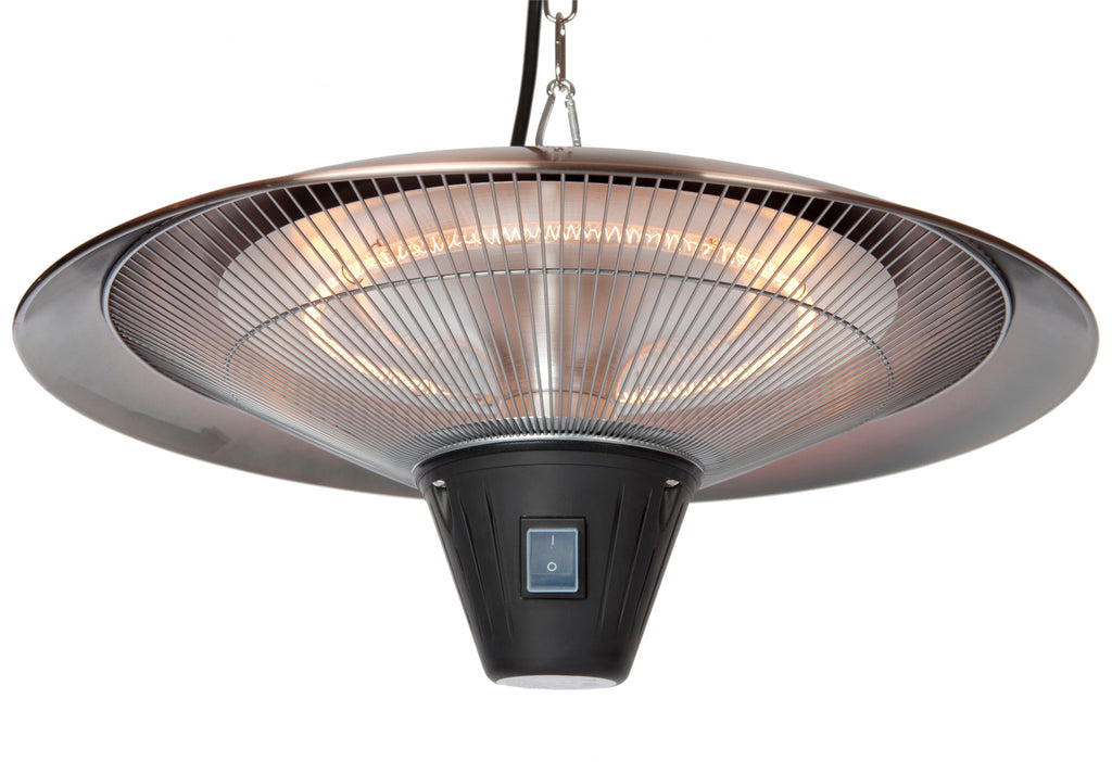 Gunnison Brushed Copper Colored Hanging Halogen Patio Heater