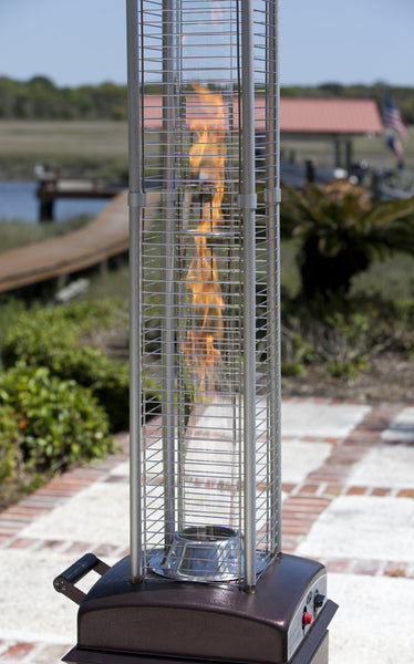 Hammered Bronze Finish Square Flame Patio Heater