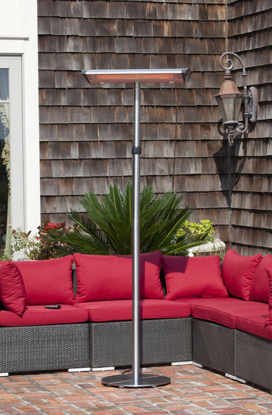 Morrison Dual Head Floor Standing Halogen Patio Heater