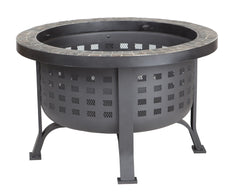 Alpina Round Slate Top Fire Pit