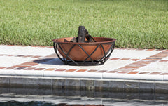 Barzelonia Round Copper Look Fire Pit