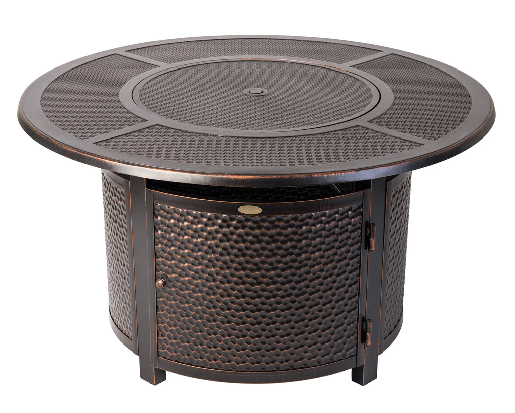 Walkers Round Hammered Aluminum LPG Fire Pit