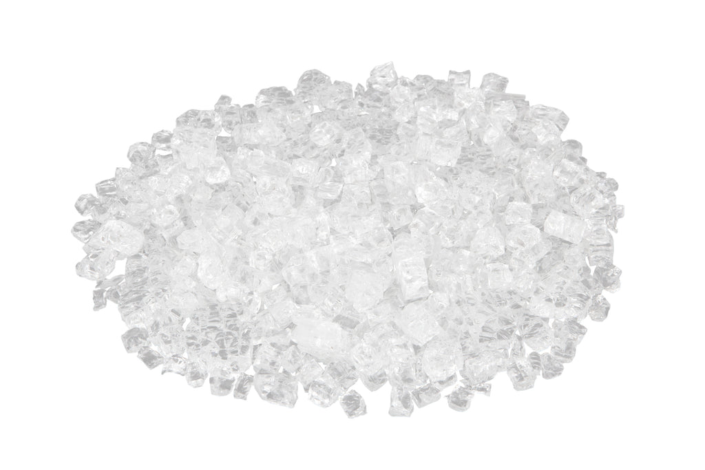 Sparkling Fire Glass in Crystal Clear (10 LB)
