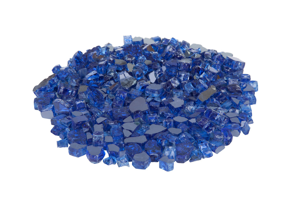 Sparkling Fire Glass in Sapphire Blue