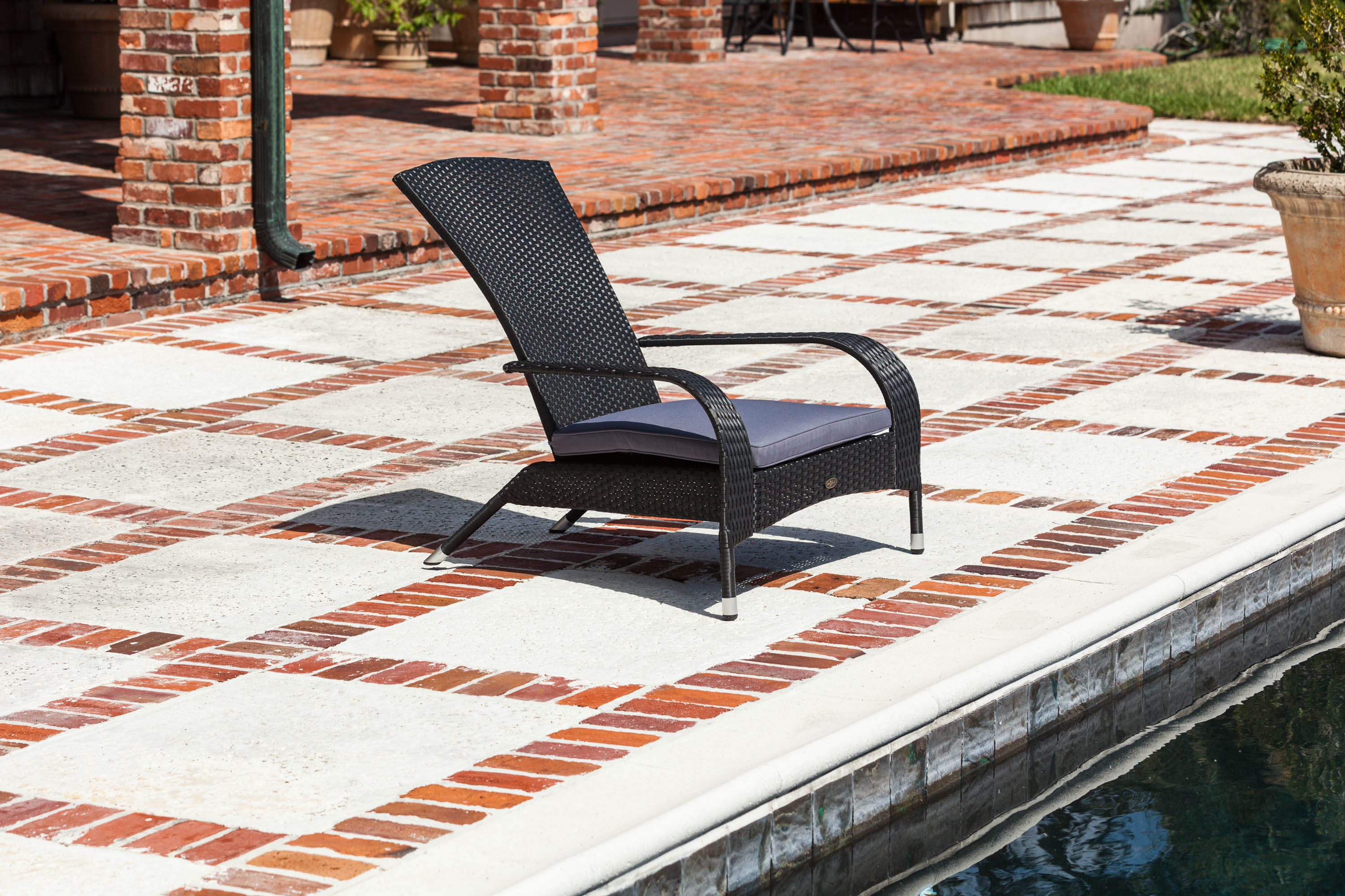 Black Coconino Wicker Chair Fire Sense