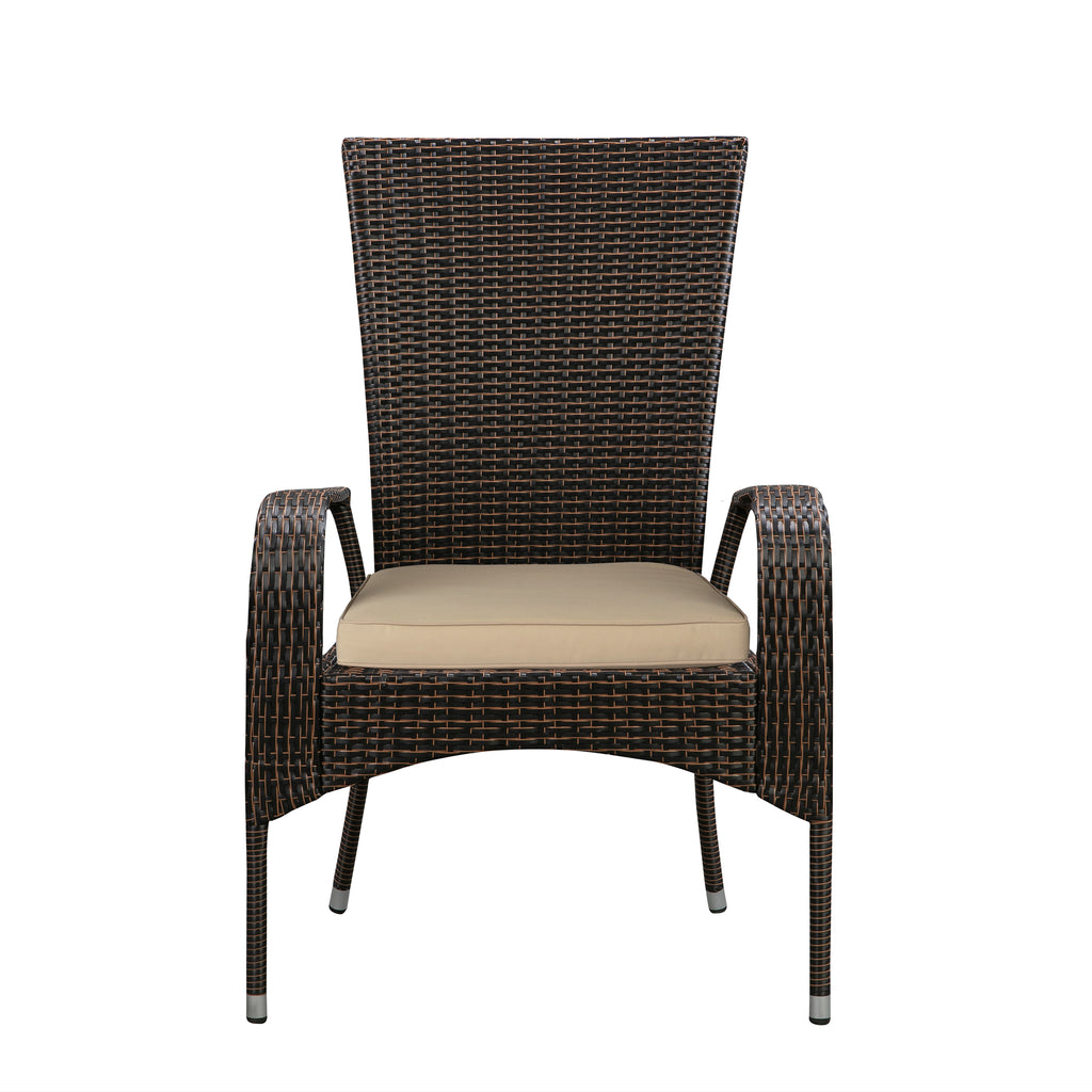 Comfort Height Coconino Armchair in Mocha All-weather Wicker