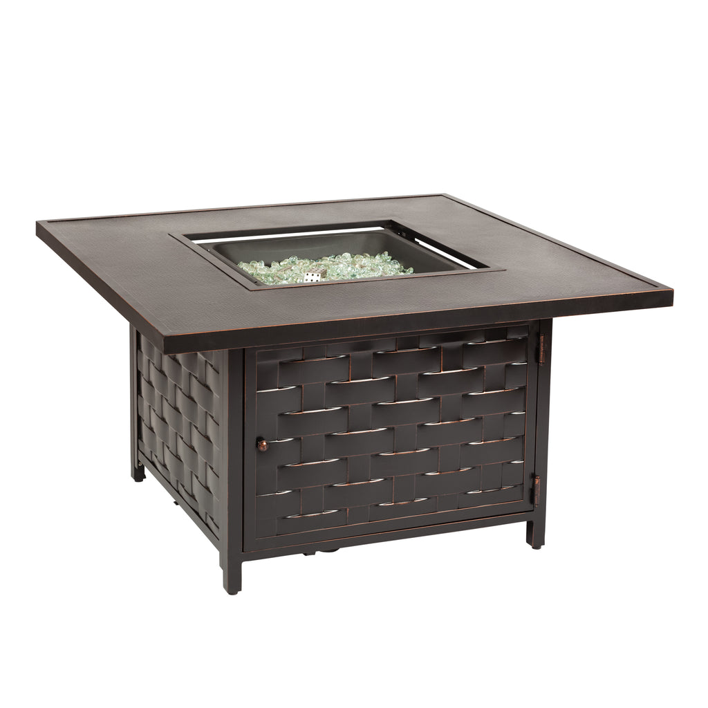 Armstrong Square Aluminum LPG Fire Pit