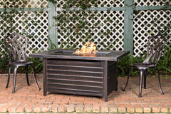 Sawyer Rectangular Aluminum LPG Fire Pit