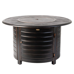Thatcher Brushed Bronze Round Aluminum LPG Fire Pit