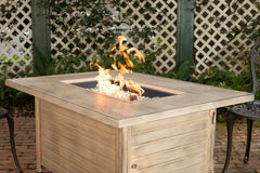 Sawyer Rectangular Aluminum LPG Fire Pit in Driftwood
