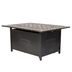 Dynasty Rectangular Aluminum LPG Fire Pit
