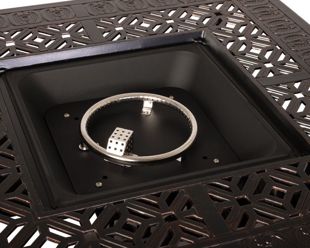 Dynasty Square Aluminum LPG Fire Pit