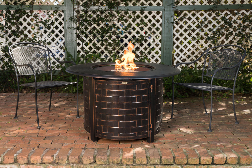Armstrong Round Aluminum LPG Fire Pit
