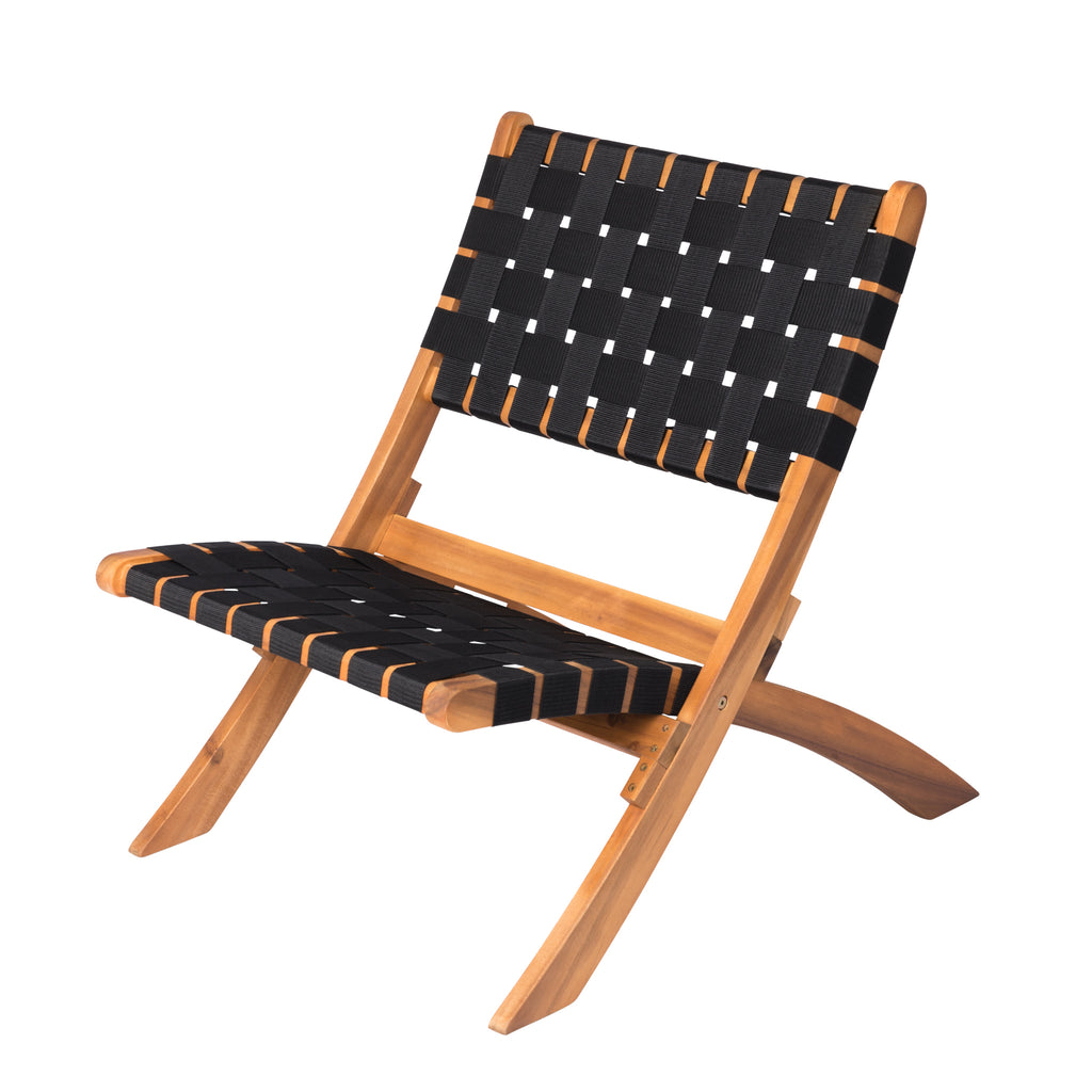 Sava Indoor-Outdoor Folding Chair in Black Webbing