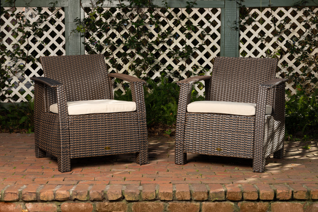 Bondi Deluxe Armchair in Mocha Wicker