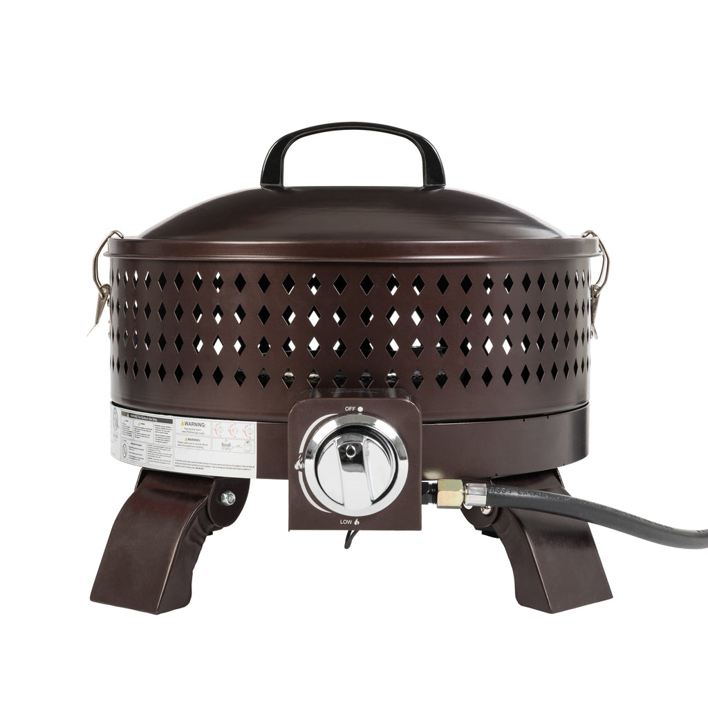 Sporty Campfire Portable Gas Fire Pit in Hammered Bronze (Walmart.com Exclusive)