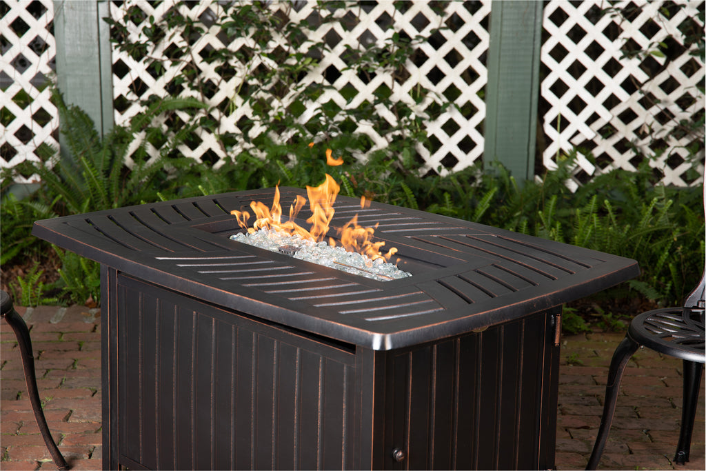 Bravos Aluminum Rectangular LPG Fire Pit (Costco.com Exclusive)