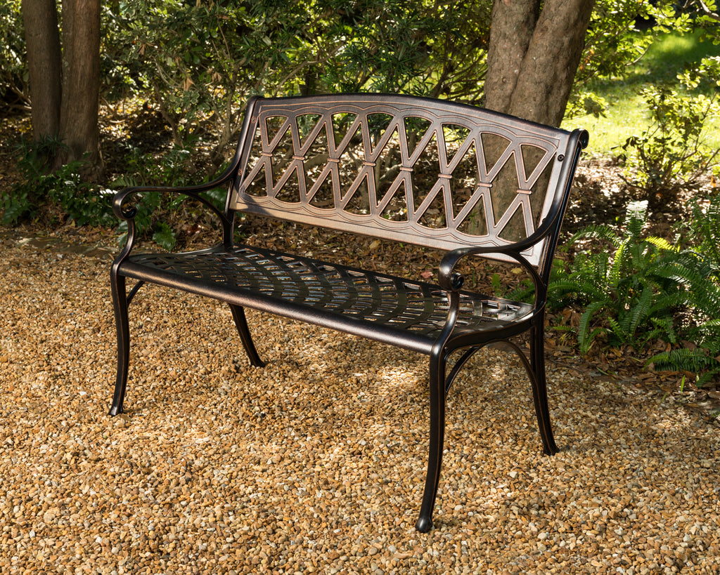 Hargrove Cast-Aluminum Patio Bench (Costco.com Exclusive)