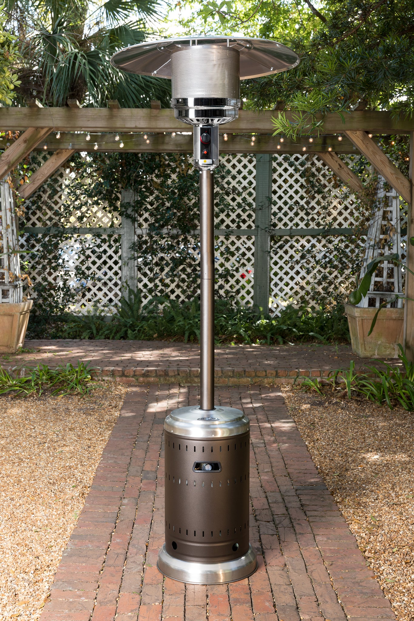 Ash And Stainless Steel Finish Patio Heater Fire Sense