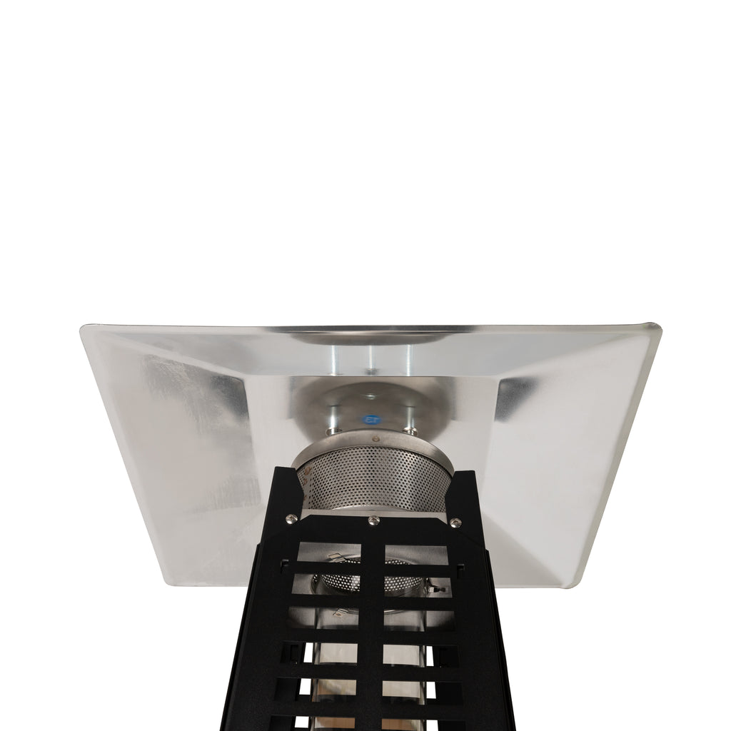 Modern Pyramid Flame Patio Heater in Matte Black (Costco.com Exclusive)