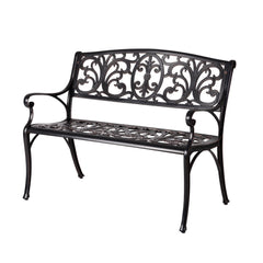 Dourn Cast Aluminum Patio Bench