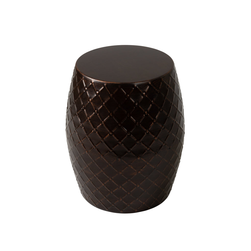 Braga Metal Stool-Table-Planter in Antique Bronze Finish