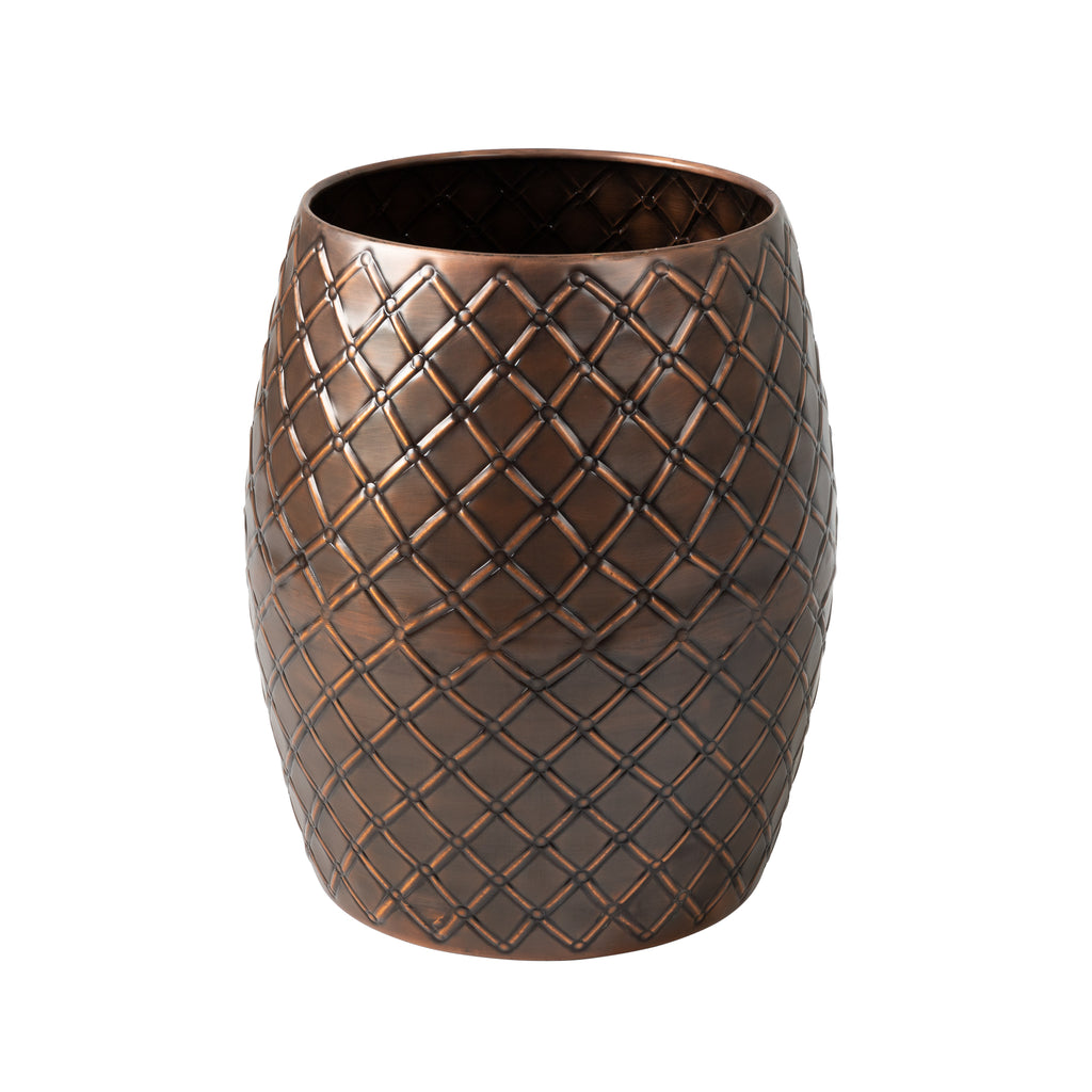 Braga Metal Stool-Table-Planter in Copper Finish