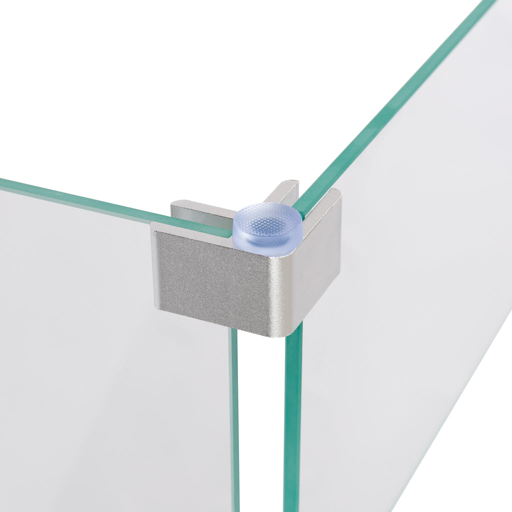 Tempered Glass Wind Guard for Square Fire Pit