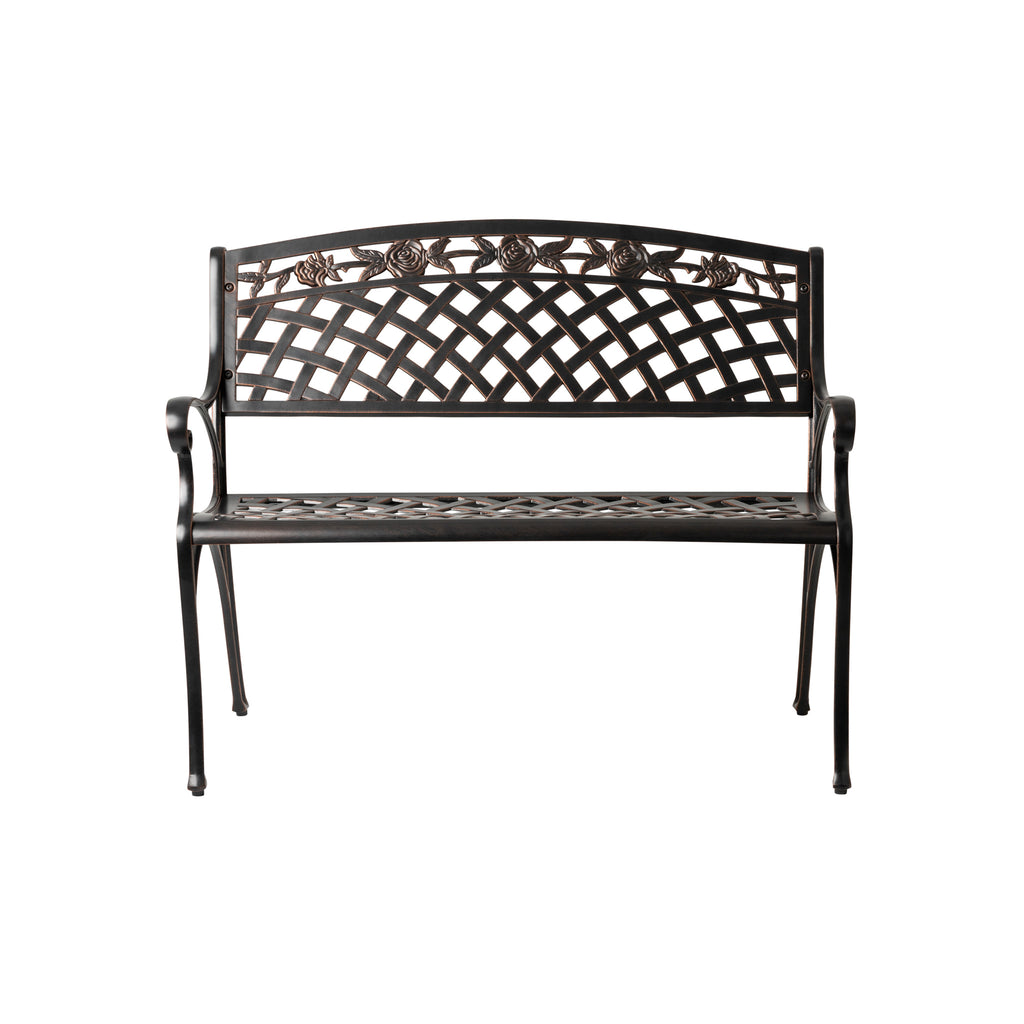 Scarlet Cast Aluminum Patio Bench