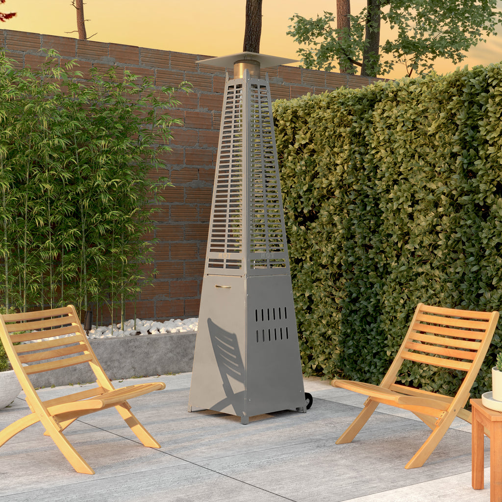 Modern Pyramid Flame Patio Heater in Platinum (Costco.com exclusive)