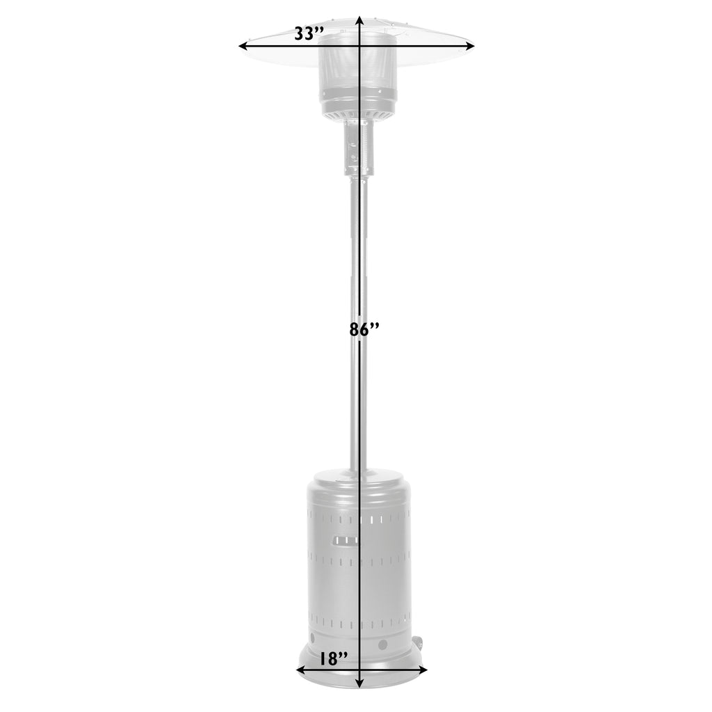 Hammered Platinum Commercial Patio Heater