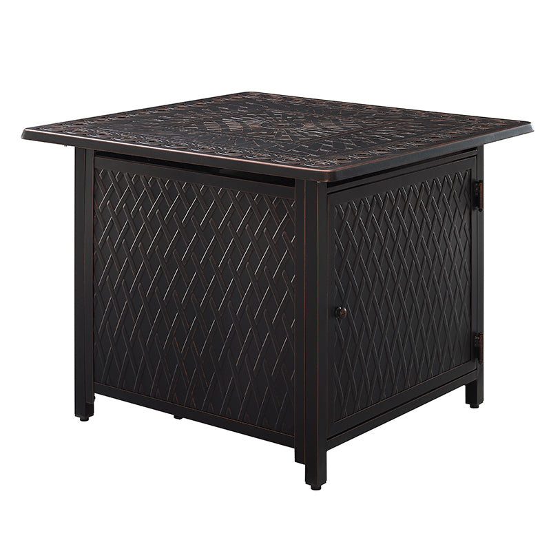 "Cartney 32"" Square Aluminum LPG/NG Fire Pit"