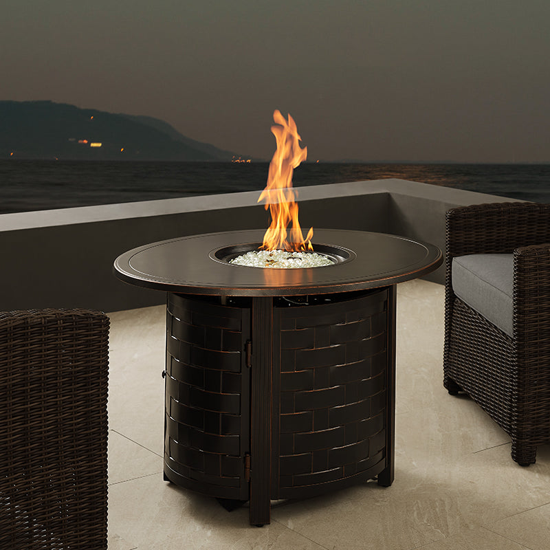 Nelson Oval Aluminum LPG/NG Fire Pit