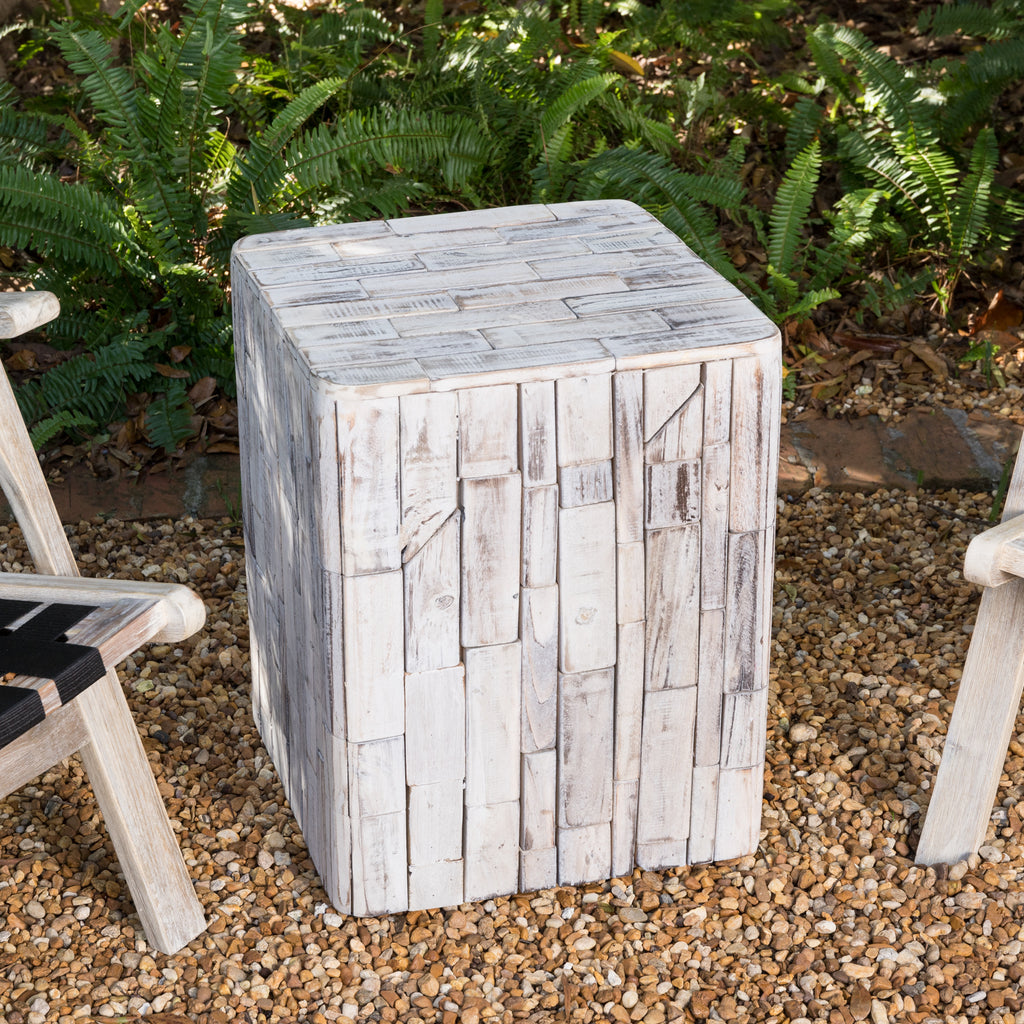 Elyse Square Indoor/Outdoor Garden Stool/Table