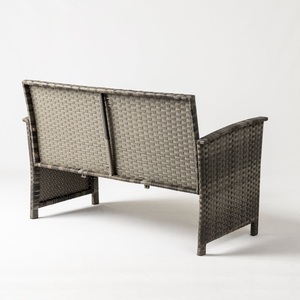Jareth Wicker Patio Set in Gray