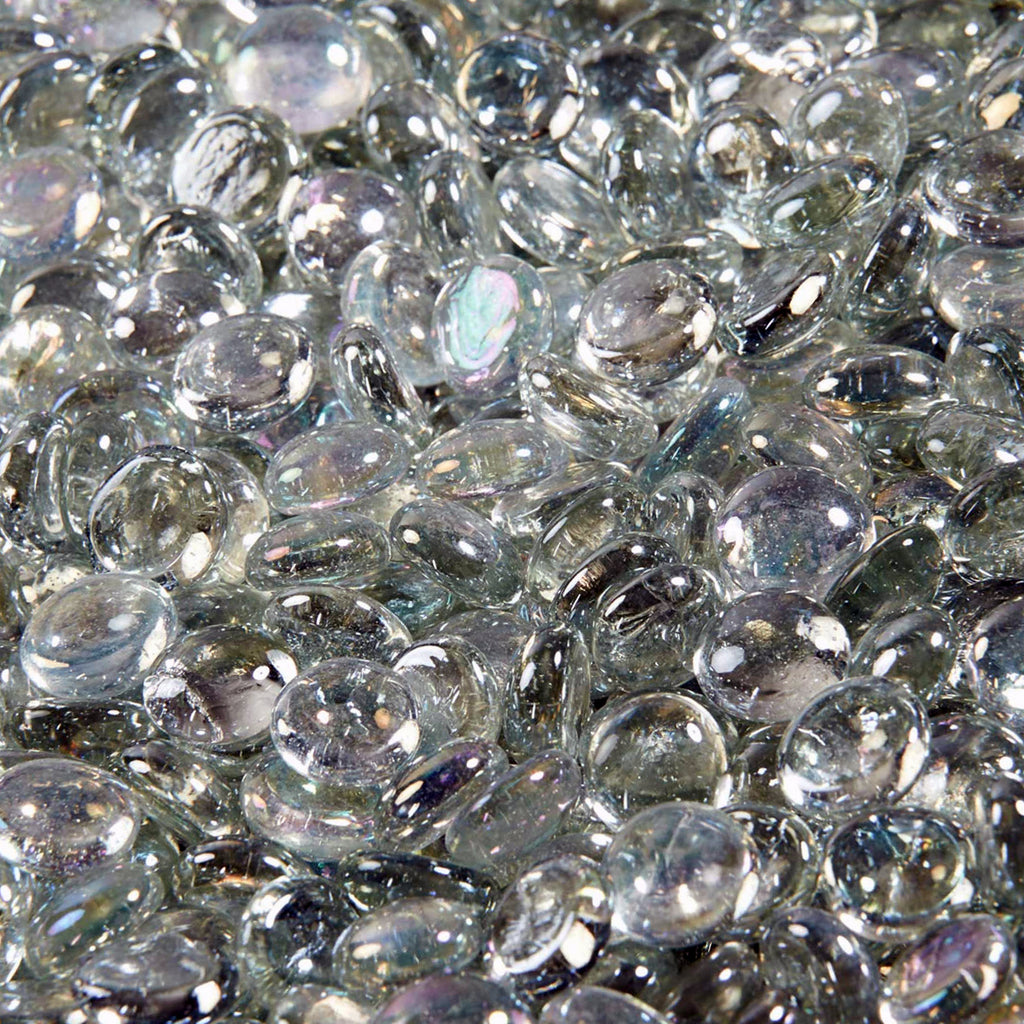 Fire Glass in Crystal Clear Half-Round Droplets (4.4 LB)