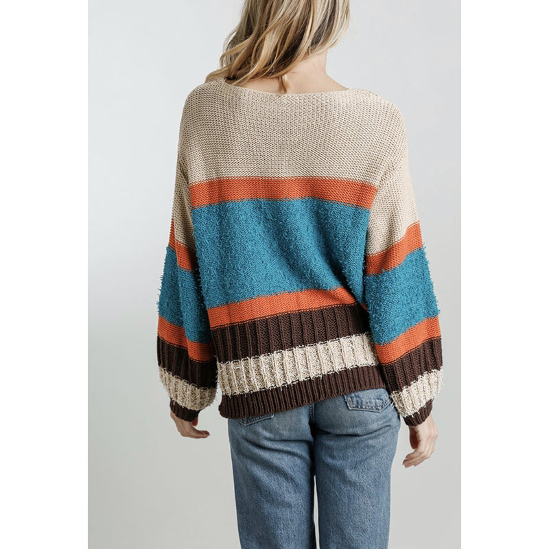 Fair Day Colorblock Sweater
