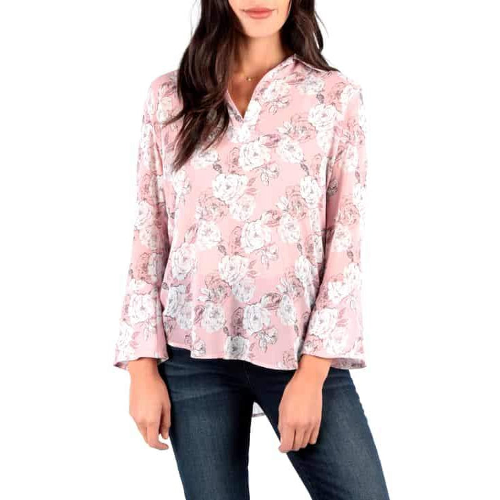 Kut - Niki Blouse-Pale Blush