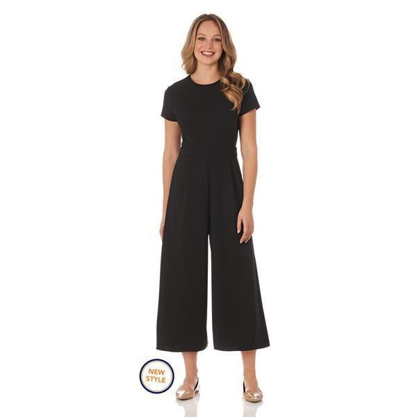 Jude Connally Blaire Stretch Crepe Wide-Leg Jumpsuit in Black