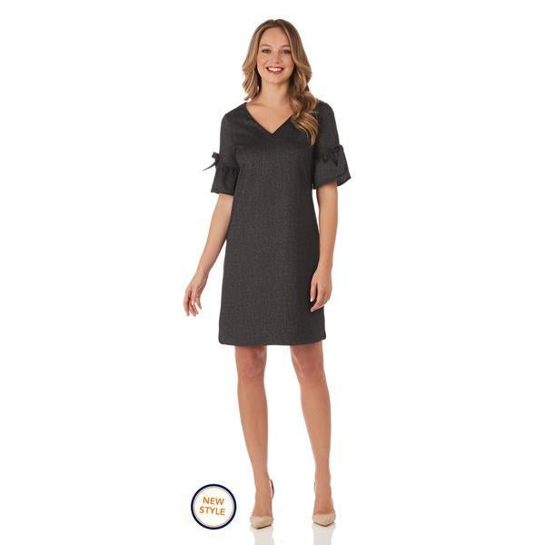 Cory Stretch Denim Dress - Black